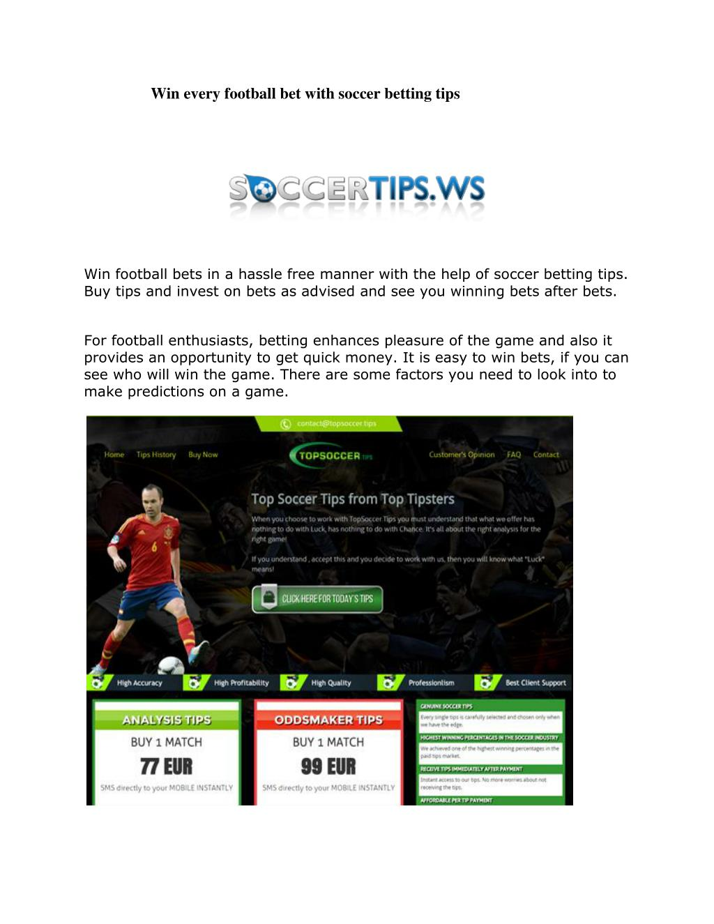 PPT - Win every football bet with soccer betting tips PowerPoint