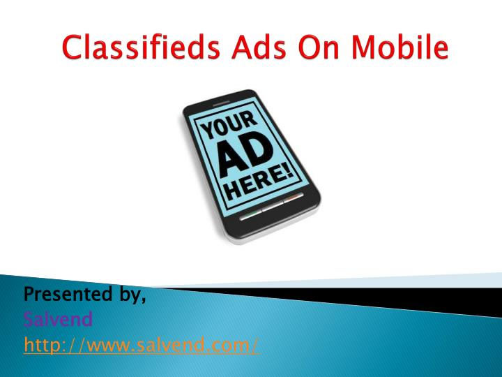 classifieds ads on mobile n.