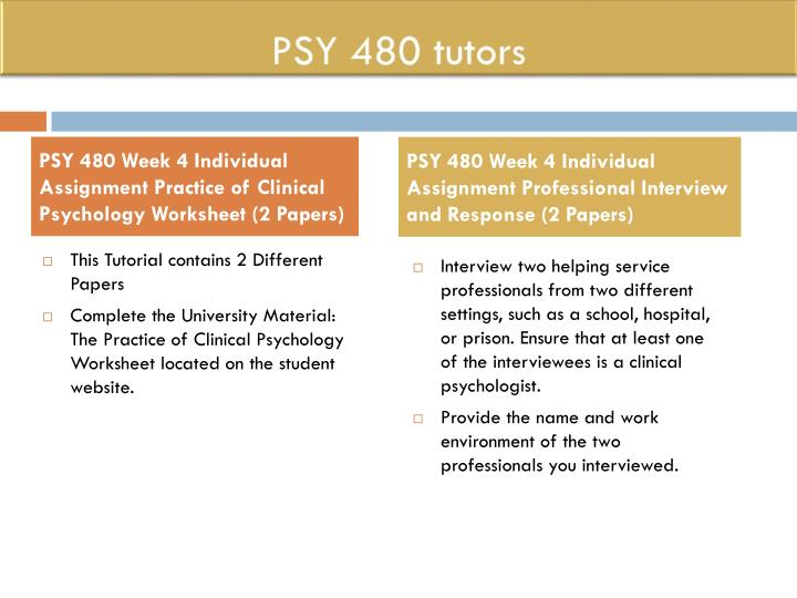 psy 480 professional interview and response Psy 480 complete course search this site psy 480 week 5 learning team contemporary issues presentation || lesbian, gay.