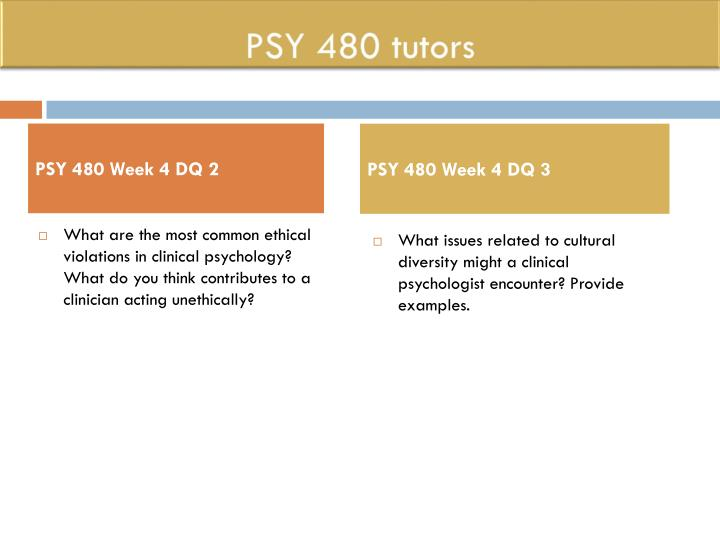 four major approaches clinical psychology