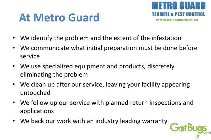 At metro guard
