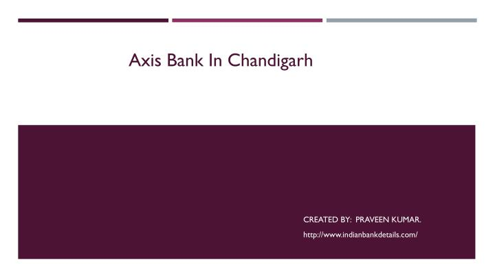 axis bank in chandigarh n.