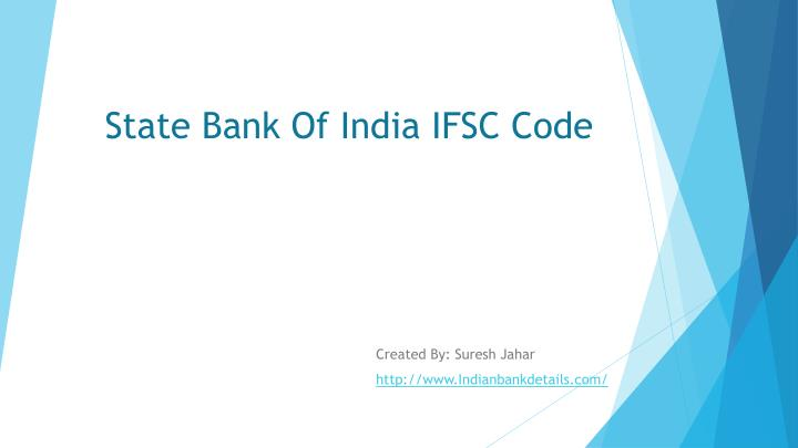 state bank of india ifsc code n.