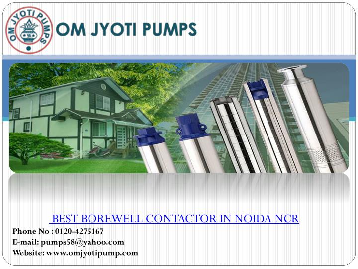 best borewell contactor in noida ncr n.