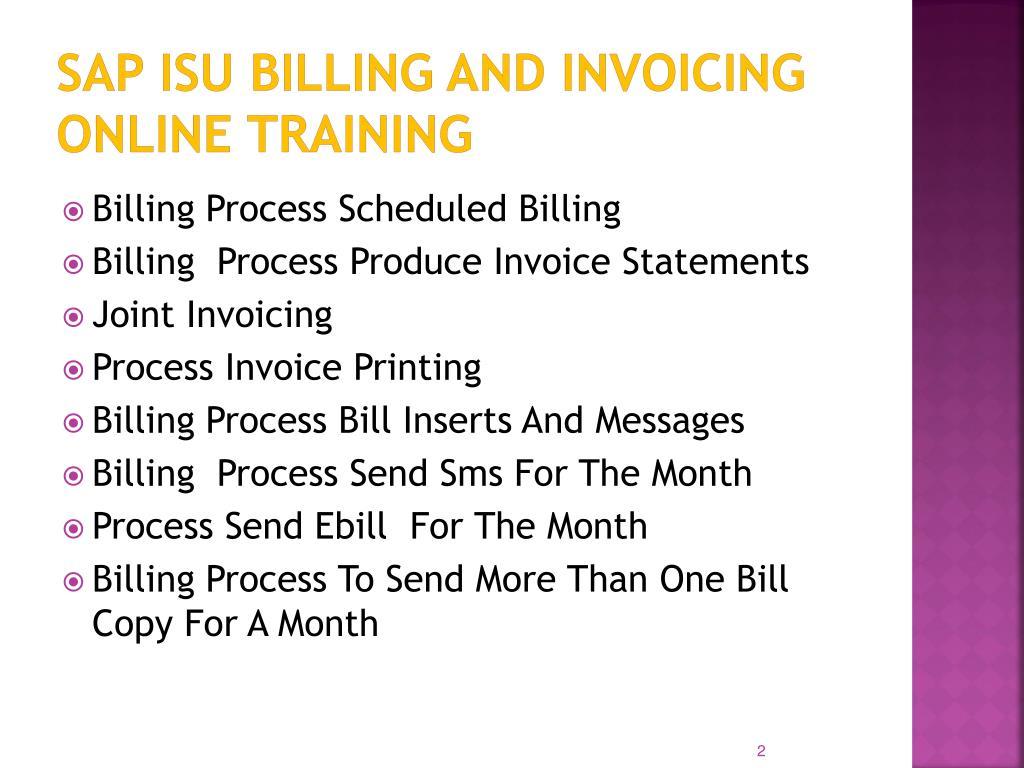 PPT - sap isu billing and invoicing online training in dubai