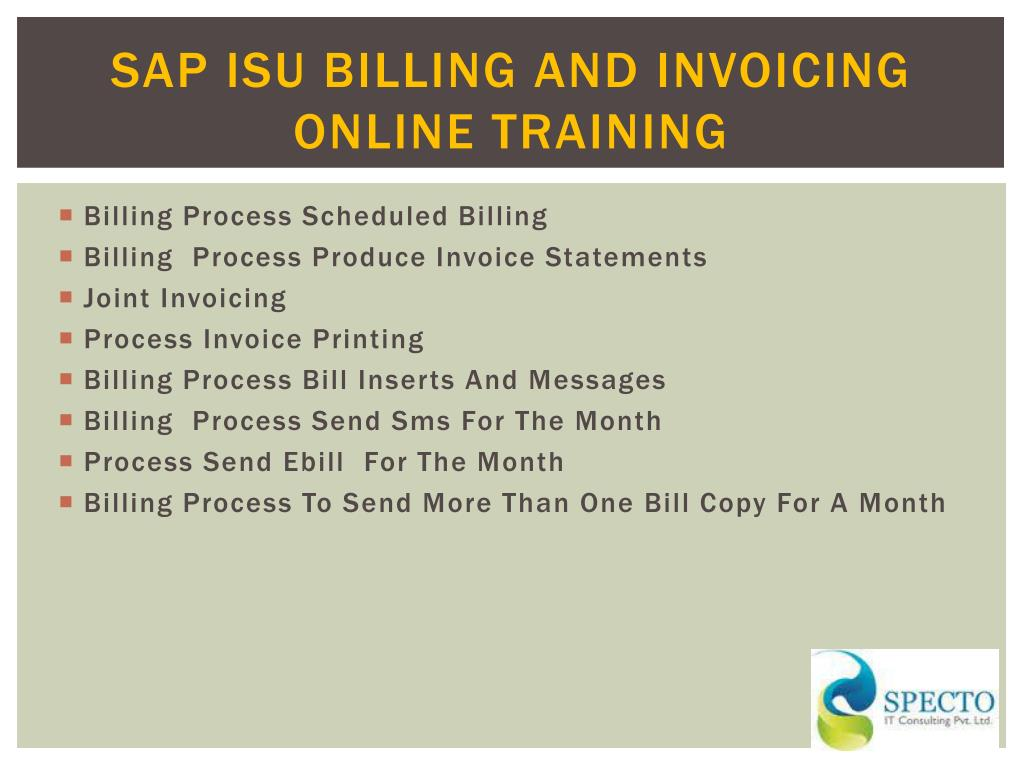 PPT - sap isu billing and invoicing online training in pune