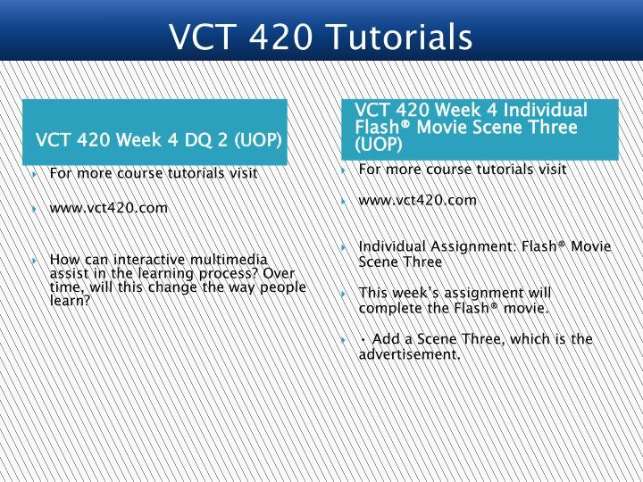 VCT 420 Tutorials