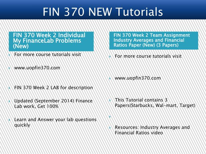 fin 370 week 2 problems Fin 370 entire course link fin 370 week 1 question fin 370 week 2 question and problem sets.