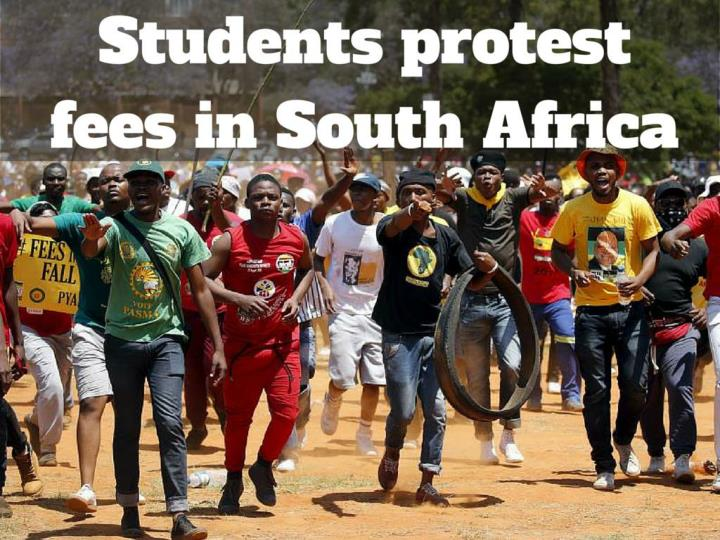 students protest fees in south africa n.