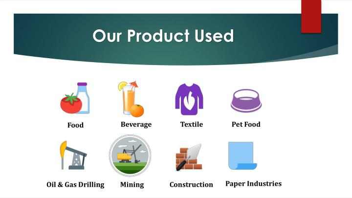 Our Product Used