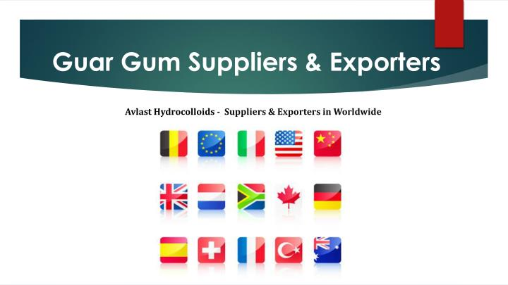 Guar Gum Suppliers