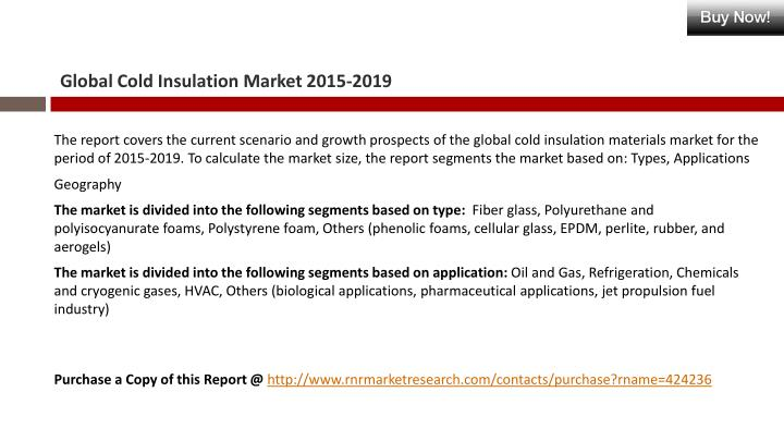 Global cold insulation market 2015 20192