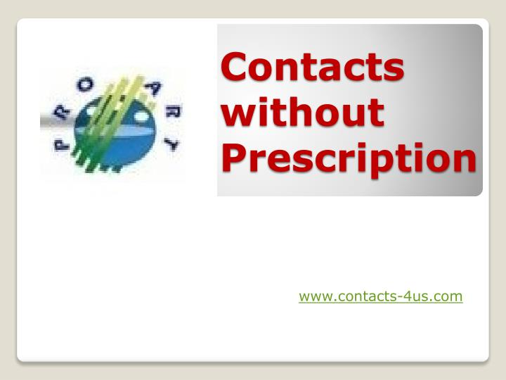 contacts without prescription