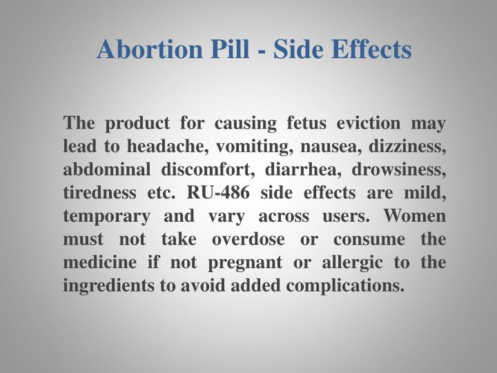 Abortion Pill - Side Effects