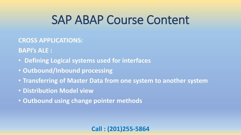 PPT - SAP ABAP Online Training Overview & Course Content