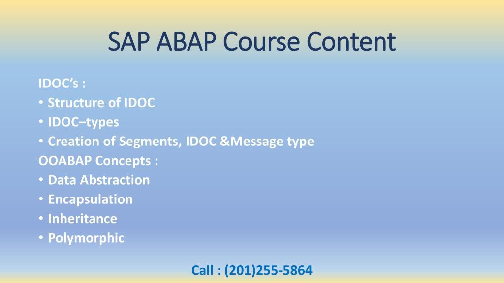 PPT - SAP ABAP Online Training Overview & Course Content