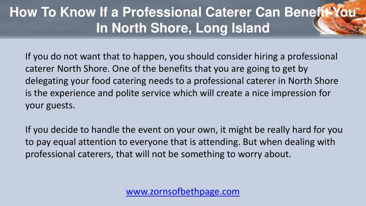 Catering North Shore Long Island