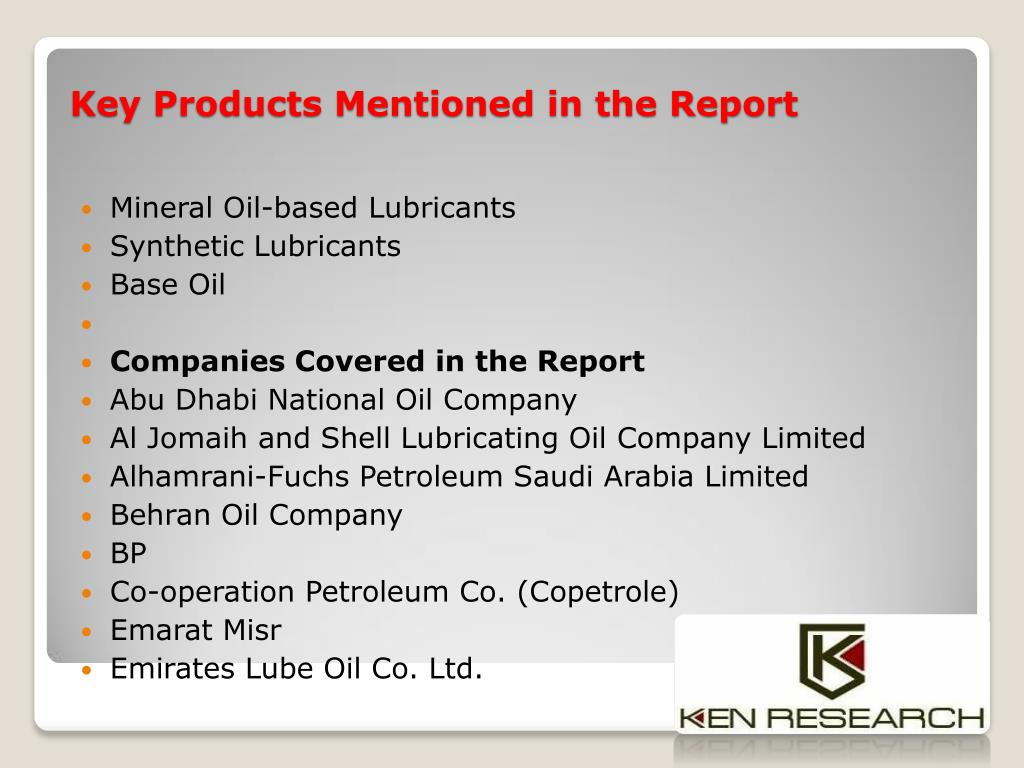 PPT - Market Growth Lubricant Saudi Arabia |Development in