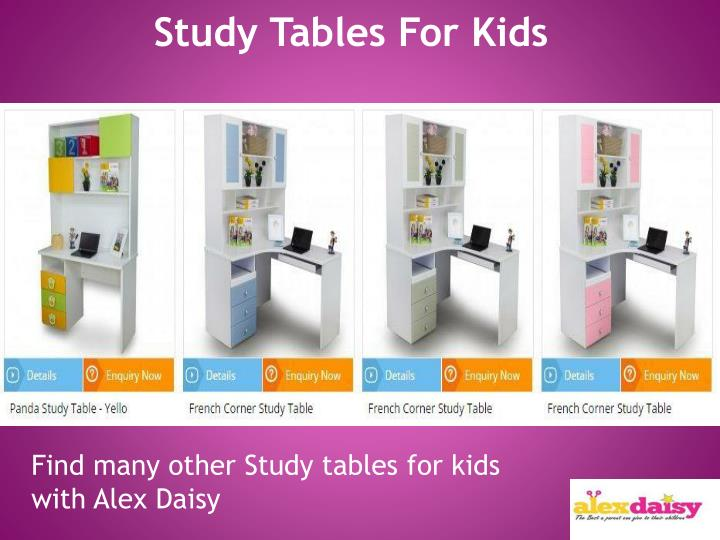 Study Tables For Kids