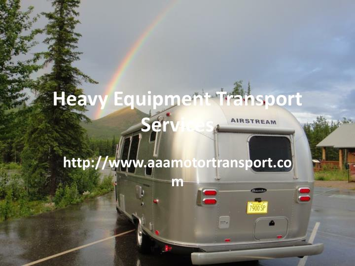 heavy equipment transport services n.