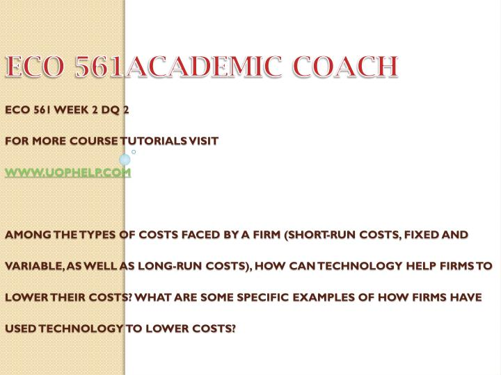 ECO 561ACADEMIC COACH