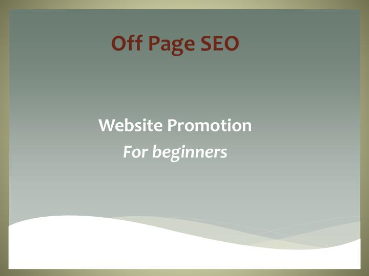off page seo website promotion for beginners n.
