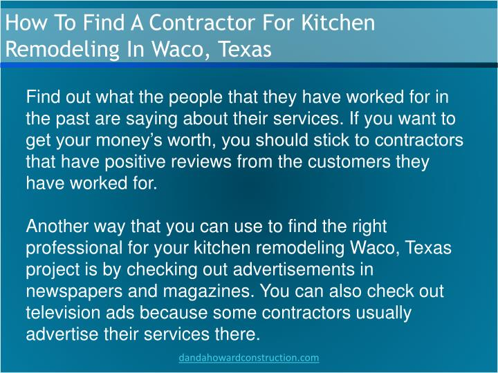 How To Find A Contractor For Kitchen Remodeling In Waco, Texas