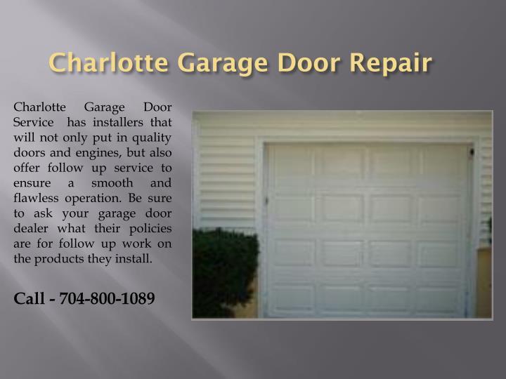 Ppt garage door service charlotte nc powerpoint for Charlotte garage door repair