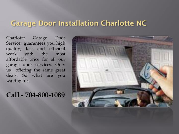 Ppt garage door service charlotte nc powerpoint for Garage doors charlotte nc