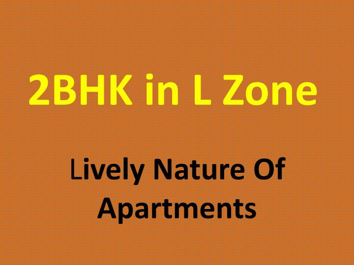 2BHK in L Zone