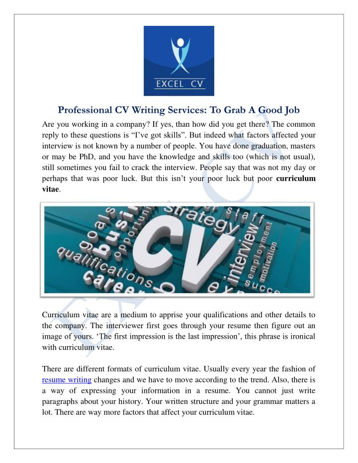 Best cv writing services 100