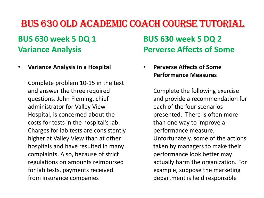 PPT - BUS 630(OLD) Academic Coach/uophelp PowerPoint