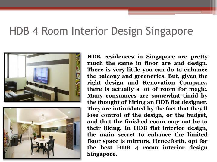 HDB 4 Room Interior Design Singapore