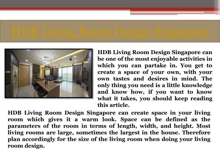 Hdb living room design singapore