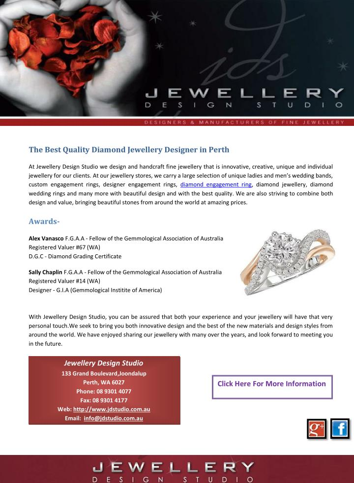 The Best Quality Diamond Jewellery Designer in Perth