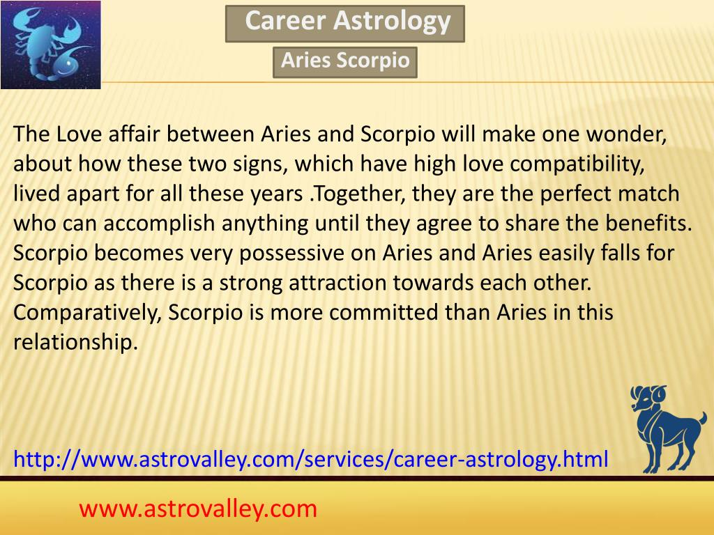 scorpio og aries match making