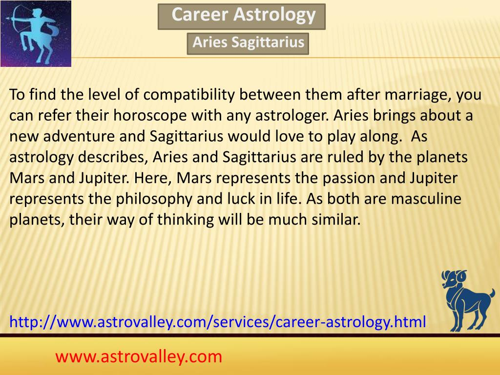 PPT - Aries Sagittarius Love Compatibility PowerPoint