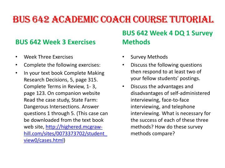 BUS 642 Academic