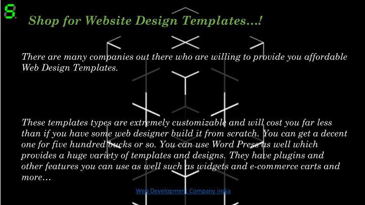 Shop for Website Design Templates…!