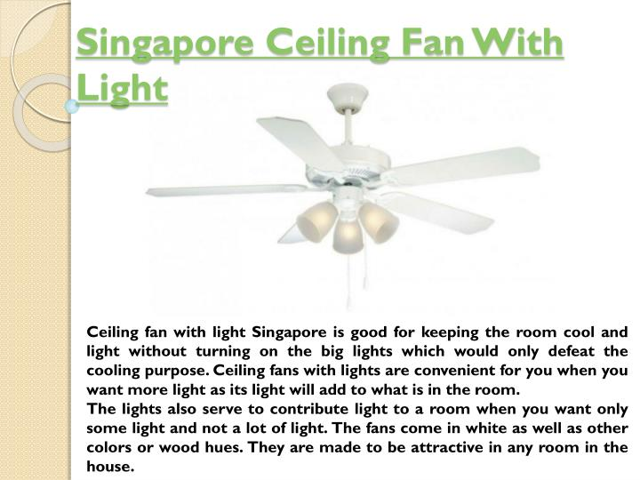 singapore ceiling fan with light n.