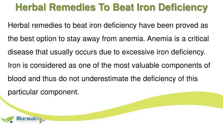 Herbal Remedies To Beat Iron Deficiency