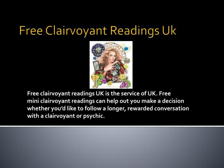 Free clairvoyant readings uk