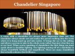 chandelier singapore