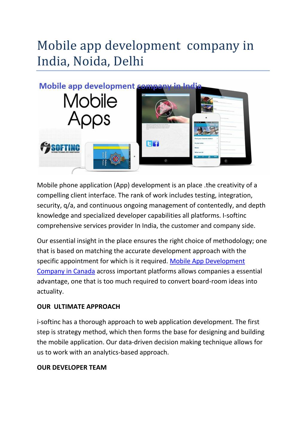 PPT - Mobile app development company services in Delhi PowerPoint
