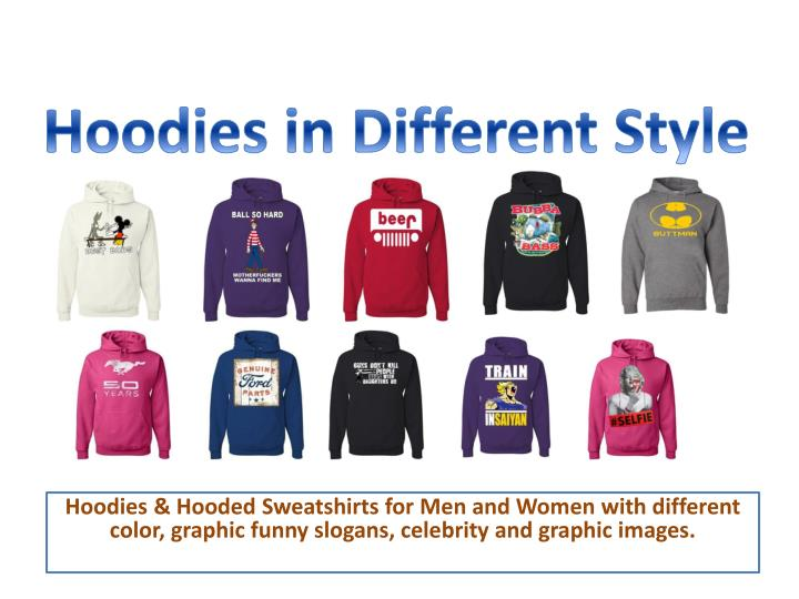 hoodies in different style n.