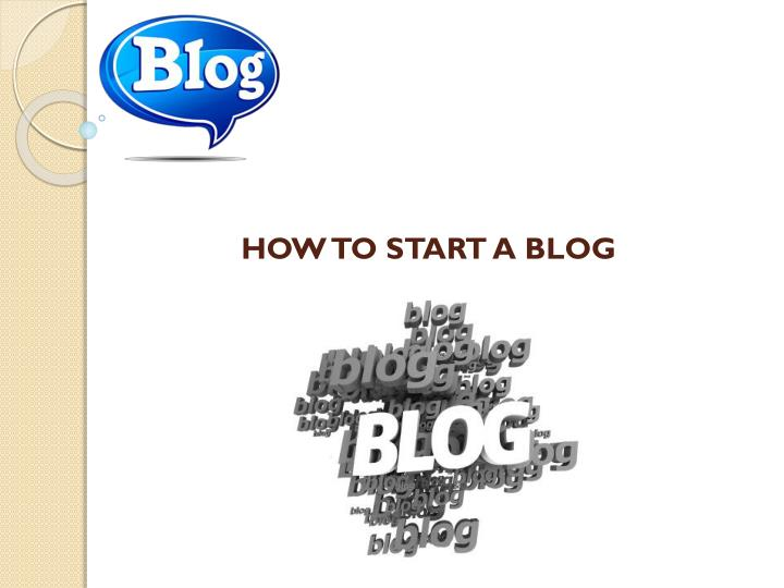 how to start a blog n.