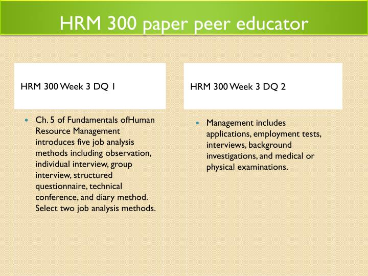 hrm 300 week 3 dq 1 Hrm 300 week 3 dq 2  this tutorial contains 2 papers for each assignment hrm 300 week 1 apply hr roles mind map (new syllabus) (2 papers) hrm 300 week 1 practice.