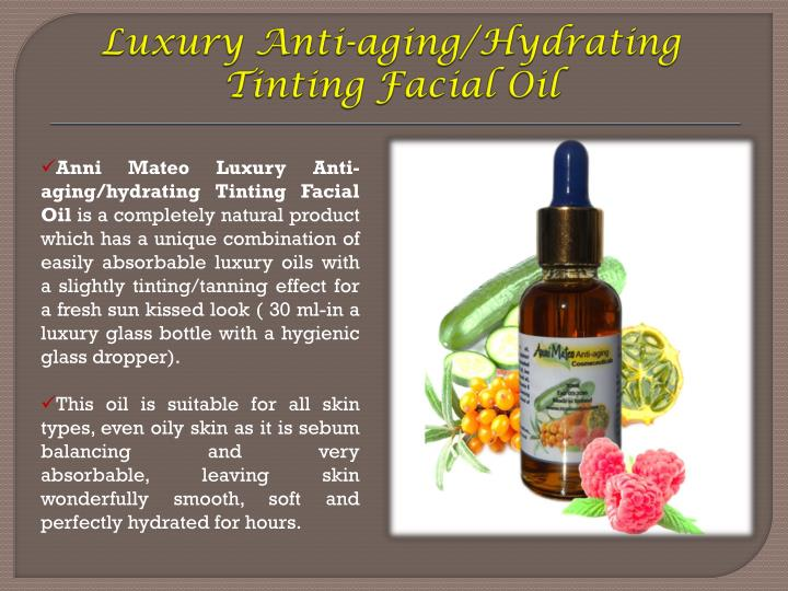 Luxury Anti-aging/Hydrating Tinting Facial Oil