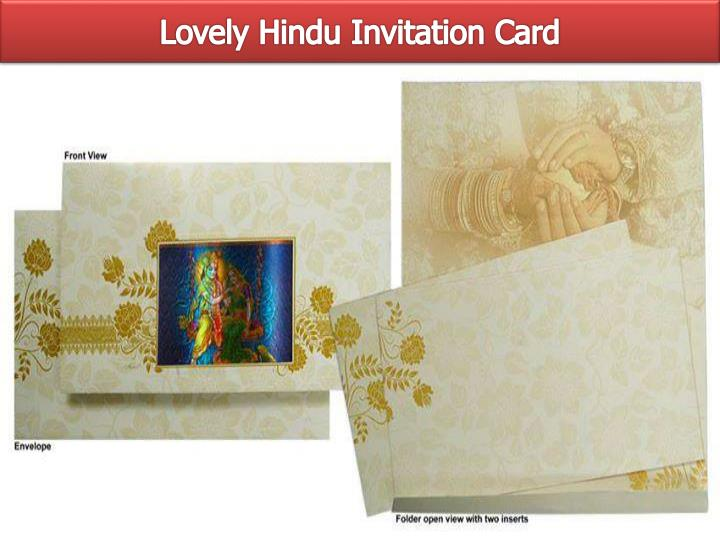 Lovely Hindu Invitation Card