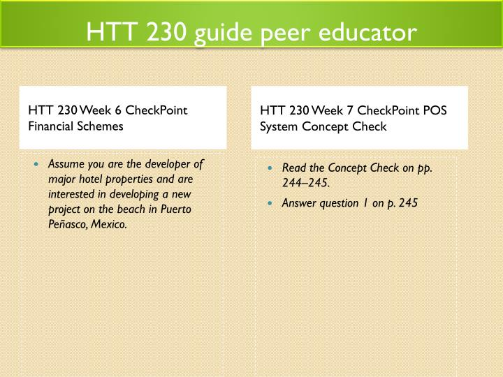 HTT 230 guide peer educator